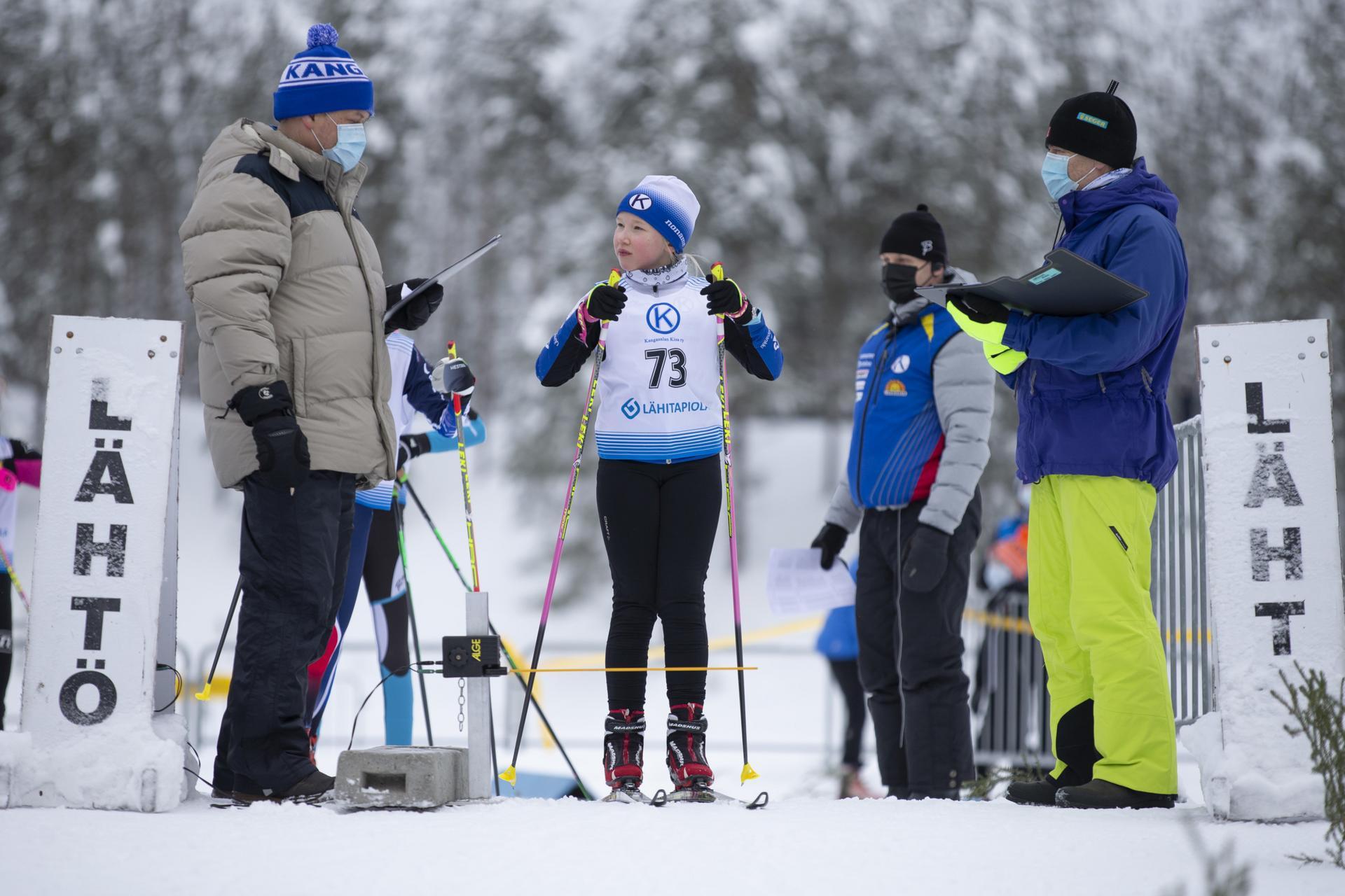 Hiihtäjät saivat nauttia erinomaisesta lumitilanteesta. Kuva: Ilmari Verho