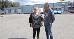 Sopiva paikka uudelle rompetorille, tuumivat Leila Suutarinen ja Martti Piltz entisellä TVH:n varikkoalueen pihakentällä Kisarannassa.