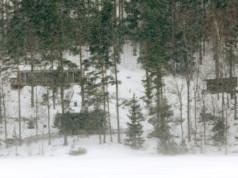 Sahalahden Kirkkojärvi kuuluu rantaosayleiskaavan piiriin. Viime sunnuntaina siellä riehui melkoinen lumimyräkkä. Kuva: Jouni Valkeeniemi