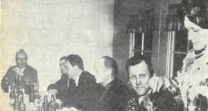 Imatran Voima Osakeyhtiön toisen päämuuntajan perustan valmistumisen johdosta oli syytä pitää harjannostajaisjuhlaa.