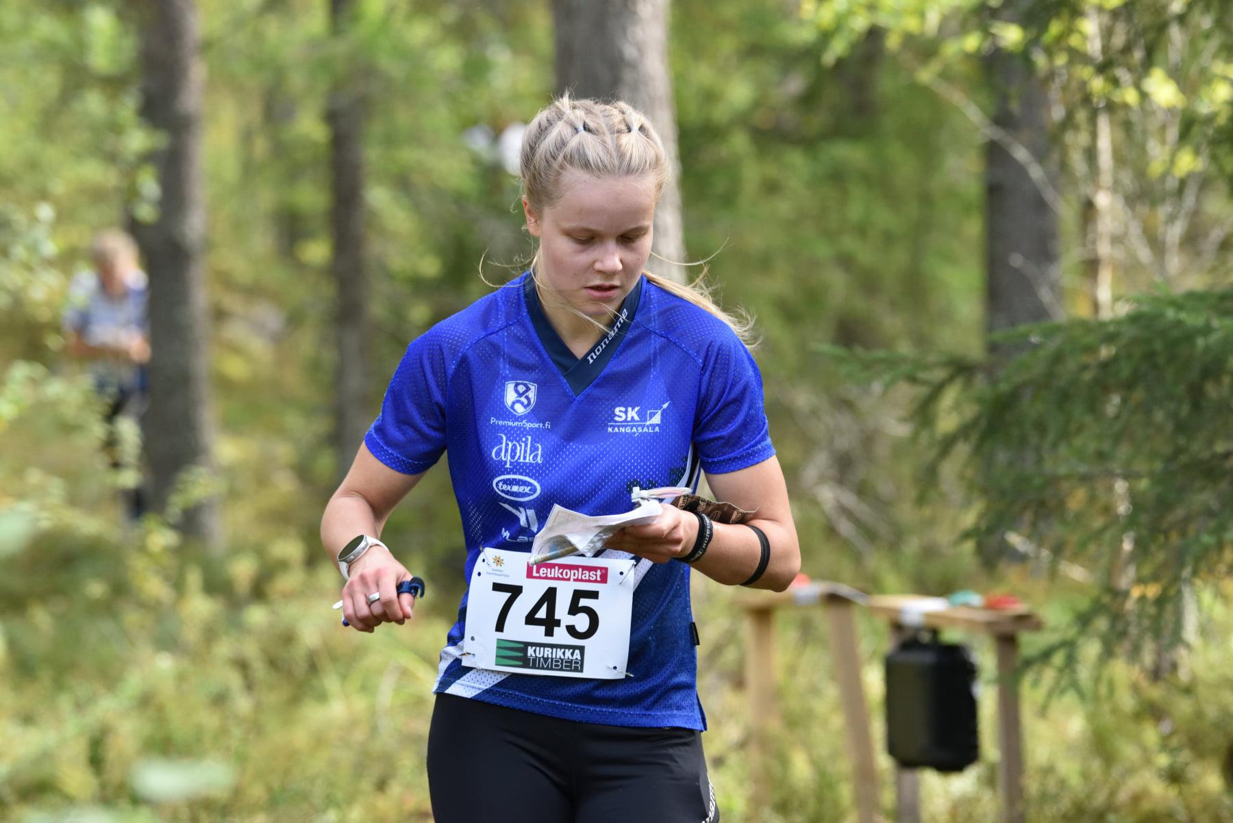 Fanny Kukonlehto matkalla kohti SM-kultaa. Kuva: Teppo Salmia