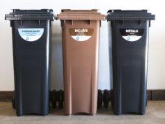Biojätteet, lasi ja metalli tulee kierrättää omiin roska-astioihinsa. Kuva: Pirkanmaan Jätehuolto Oy