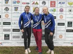 Ulrika Uotila, Hanna Sivén ja Maiju Oksanen suunnistivat SM-viestissä sijalle yhdeksän.