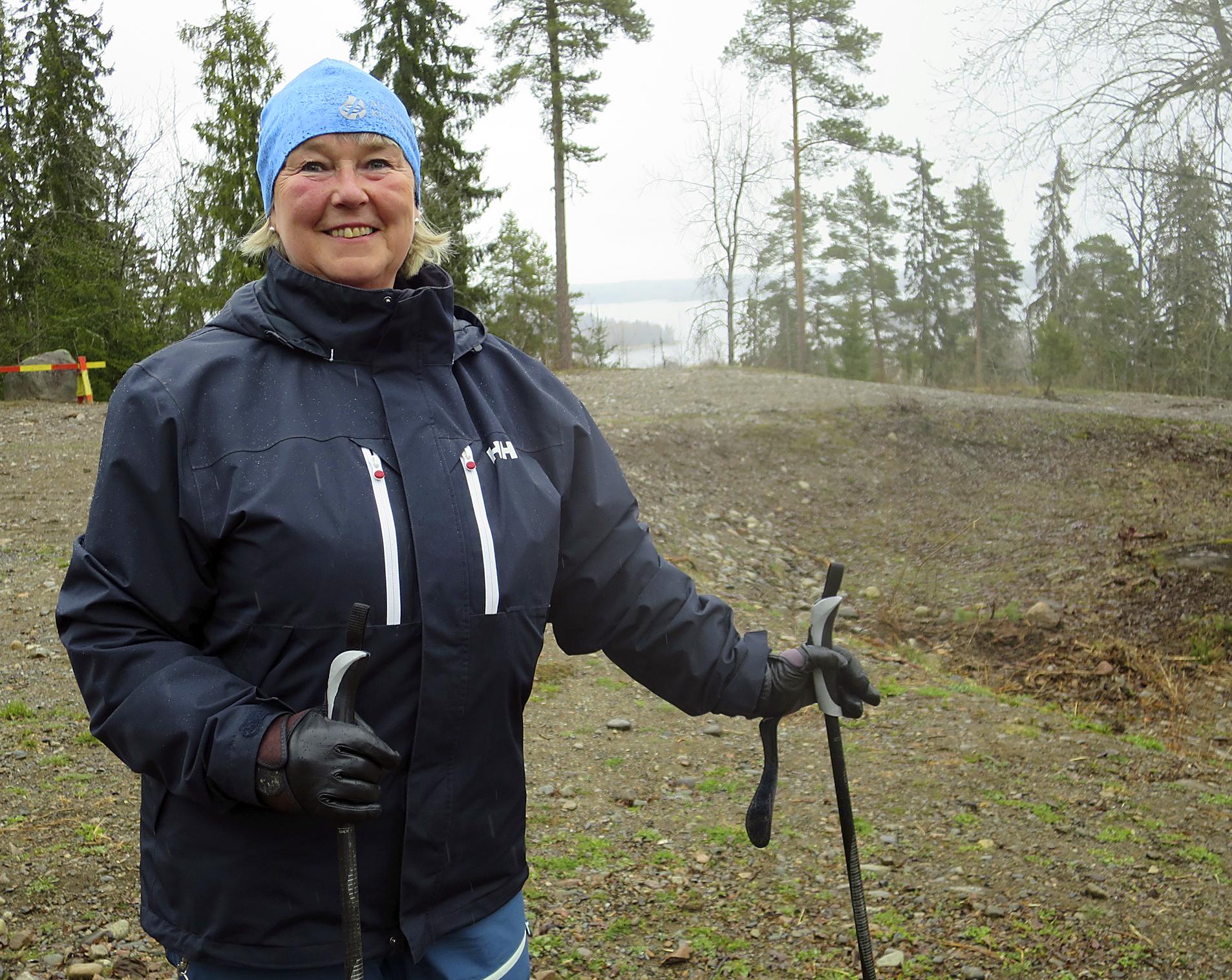 Kirkkoharju on liikunnalliselle Eija Eskolalle rakas paikka.