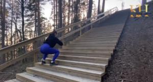 Missä portaat, siellä treeni! Liity Kiia Heleniuksen mukaan.