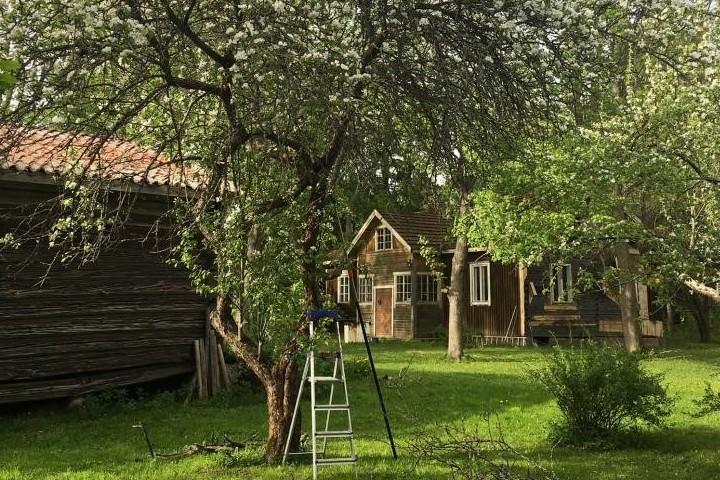 Vanha hirsitalo Saarikylissä kunnostuu Leena ja Kimmo Tiitolan kodiksi.