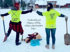 Kun tieto Pohjan koulun lakkauttamisesta tuli, käynnistyi Kuhmalahdessa kampanjointi oman koulun puolesta. Ylläolevaa kuvaa jaettiin ahkerasti sosiaalisessa mediassa. Kuva: Sani Keino