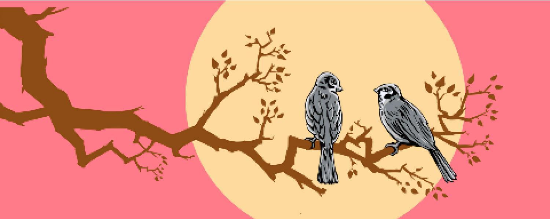 Lamminrahkan eritasoliittymän meluseinälle on kiinnitetty kolmiosainen Varpuset-sarja, johon myös kuvan Kesäyö kuuluu. Teoksen on suunnitellut ROP- taiteilijaryhmä, jonka muodostavat kuvataiteilija (AMK) Tuomo Rosenlund ja diplomi-insinööri Pekko Orava.