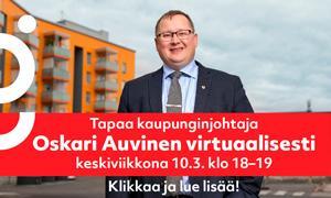 Kangasalan kaupungin johtajan virtuaalitapaaminen järjestetään jälleen keskiviikkona 10.3.2021