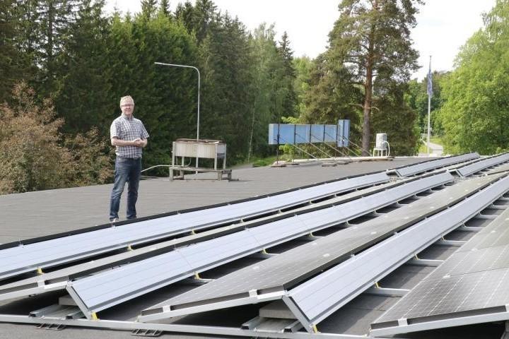 Malm Areena aurinkopaneelit