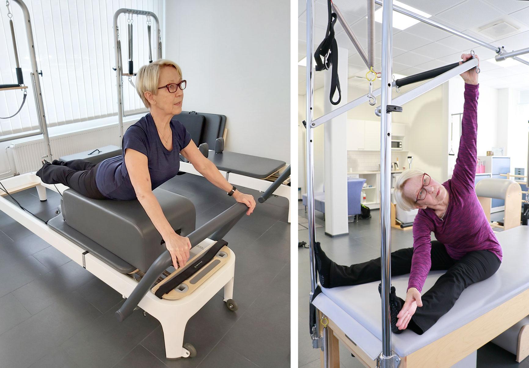 Pilates-menetelmässä on kuusi keskeistä periaatetta, jotka vahvistavat, parantavat ja tehostavat työskentelyn laatua. Marjo Raskin mukaan laitteet tekevät harjoittelusta miellyttävää ja tehokasta.