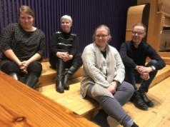 Kangasalan Musiikinystävien hallitukseen kuuluvat Elina Heikkinen, Ulla Muranen, Riikka Marttila ja Jouko Laivuori.