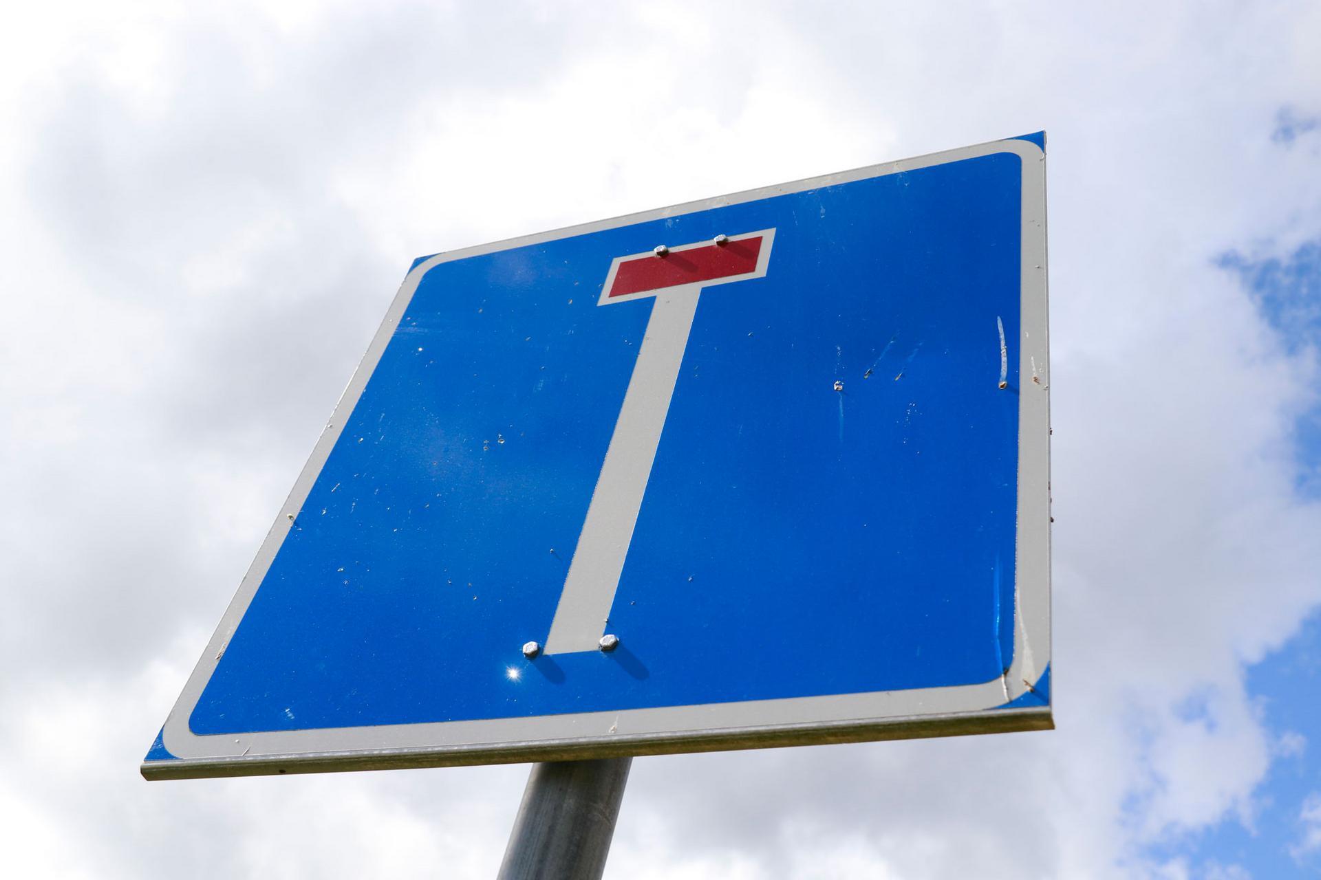 Törmätielle on asukkaiden toiveesta tulossa liikennemerkki, joka kertoo tien päättyvän.