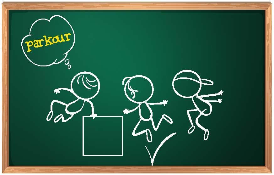 Parkour kuuluu oppilaiden toiveharrastuksiin. Kuva: Iclipart