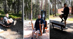 Voimakas Oy:n Riku Koskivuori antoi KS-juhannuskalenteria seuraaville vinkkejä kiertoharjoitteluun oman kehon painolla ulkokuntosalilla Kirkkoharjussa.