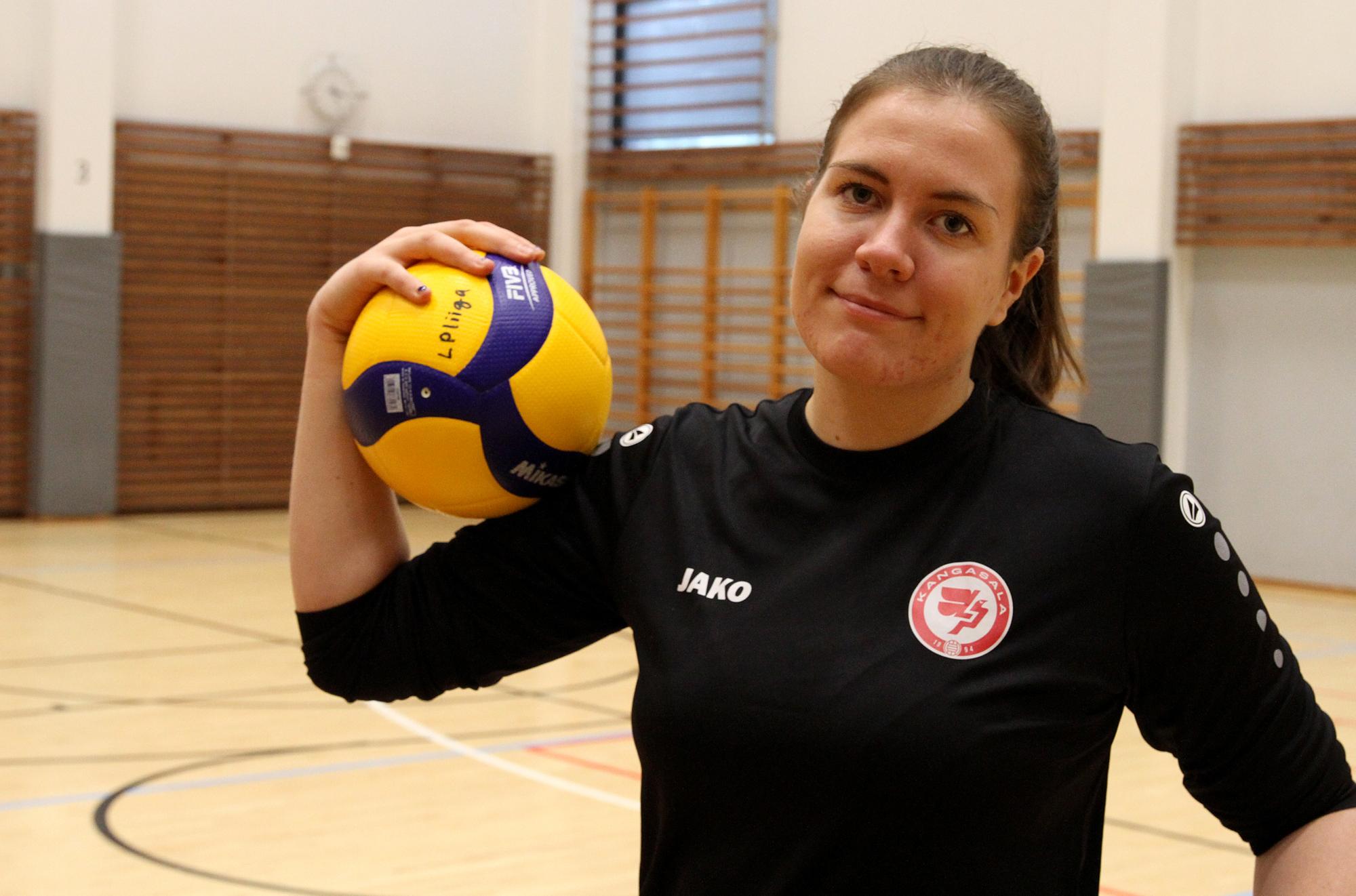 Ronja Heikkiniemi nähdään LP Kangasalan joukkueessa myös tulevalla kaudella. Kuva: Pertti Flinck