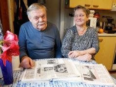 Raija ja Anssi Krank ovat asuneet Ruutanassa yli 50 vuotta. He muistavat hyvin, kuinka ruutanalaiset kulkivat Tampereelle ja Orivedelle junalla. Raijan leikekirjasta löytyy juniin liittyviä lehtijuttuja.