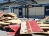 Suoraman koulun liikuntasali on parhaillaan remontissa.