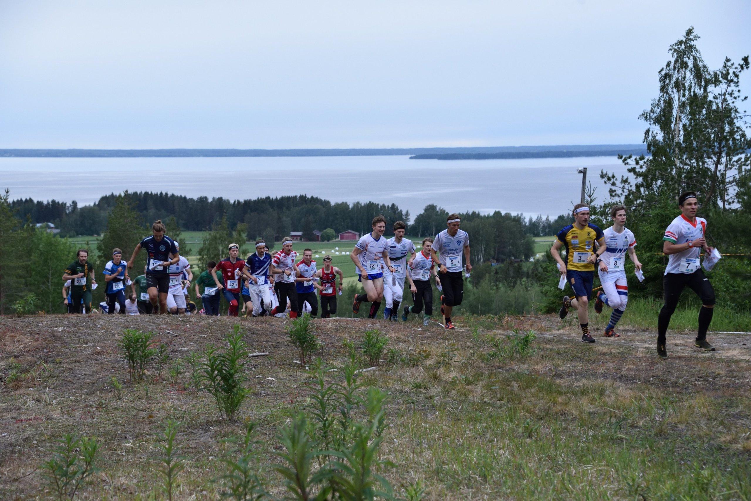 Lakeuden viesti oli monille joukkueille tärkeä kilpailu elokuulle siirrettyyn Jukolaan valmistautumisessa. Kuva: Teppo Salmia