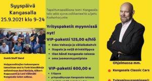 Kangasalan Yrittäjien syyspäivää vietetään Kangasalla syyskuun loppupuolella.