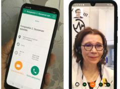 Suoraman apteekissa voi nyt asioida myös puhelinsovelluksen avulla. Kun valitsee videopuhelun, pääsee keskustelemaan kasvokkain vaikkapa apteekkari Ulla-Maija Kimmel kanssa.